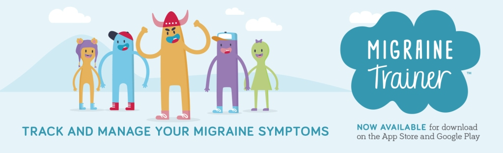 Advertisement for NINDS Migraine Trainer app